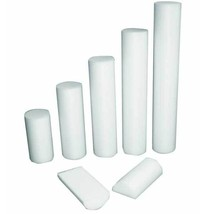 Cando White 6inch-Wide(Diameter) Rollers 6''x18'' Round - $22.09