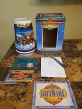 2002 Budweiser Holiday Beer Stein/Mug **NEW IN BOX with COA** - $9.85