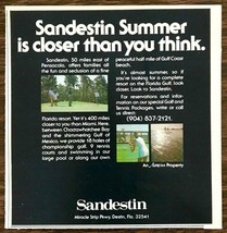1979 Sandestin Golf and Beach Resort Choctawhatchee Bay Destin FL Print AD - $8.95