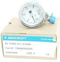 NIB ASHCROFT 40 1008S 01L 0/100 PRESSURE GAUGE P/N: 759426955295