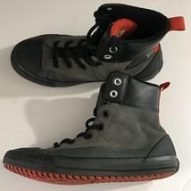 Converse All Star Junior 5 Gray Suede Leather High Top Shoes 654314C A5208 - $21.28