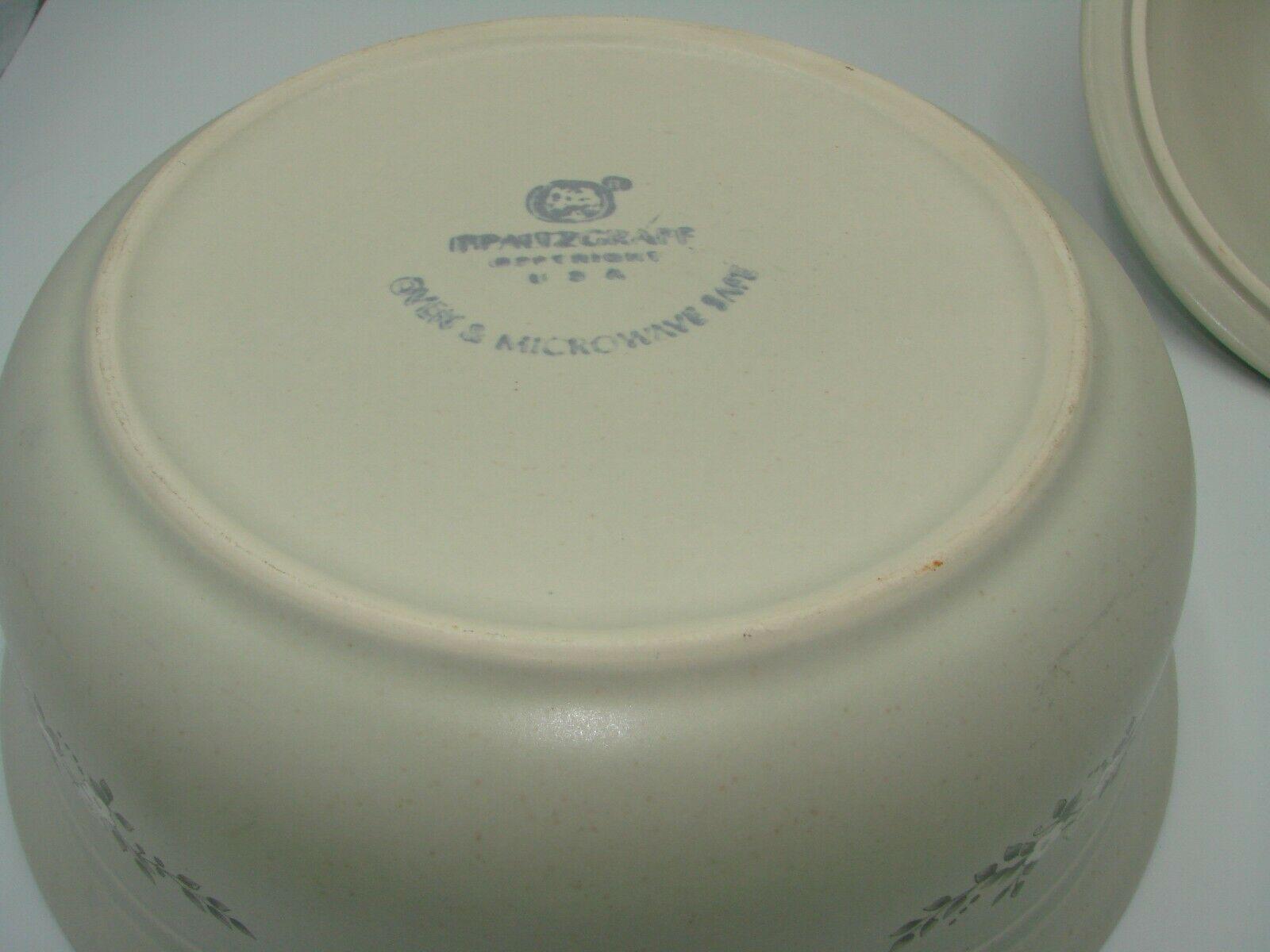 Pristine Pfaltzgraff Heirloom Covered Casserole Dish 8.75 2 Quart White Flowers image 5