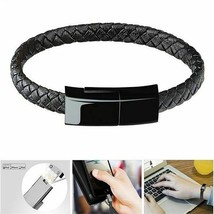 Portable Leather USB Cable for Xiaomi IPhoneX XR Samsung S6 S7 Wristband Bracele - $7.95