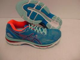 Asics women's gel nimbus 19 running shoes diva blue flash coral size 8.5 us - $108.85