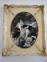 Antique Rare Framed S P Solomons Decorative Art Co. NY Tapestry Girls at... - $56.23