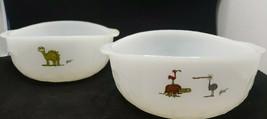 Vintage Johnny Hart Gorg Anchor Hocking Fire King Cereal Bowls Set of 2 - $36.99