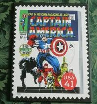 Marvel Comics Captain America Wooden Wall Art Poster Plaque Avengers - $14.36