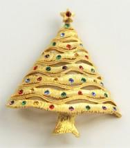 "VINTAGE ESTATE Jewelry ""JJ"" JONETTE JEWELRY RHINESTONE CHRISTMAS TREE BR... - $15.00"