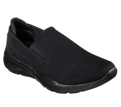 Skechers Black Shoes Men Memory Foam Slip On Casual Comfort Knit Mesh Wa... - $39.99