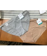 NWT LOT 2 Jockey Cotton Allure/Seamfree Air Bikini XXL/9 Cotton/Nylon 16... - $12.59