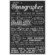 Sonographer Wall Art Decor – Graduation Gift fo... - $21.50