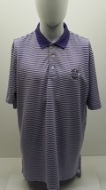 Polo Ralph Lauren Golf XL Purple Striped PGA Championship 2013 Men's Polo Shirt  - $15.98