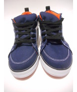 Boys Cherokee Athletic SNEAKERS Shoes Pike Navy Blue Canvas Youth Size 2... - $15.72