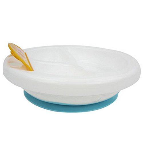 Baby Pouring Water For Warm Serving Separated Area Bowl(Blue)