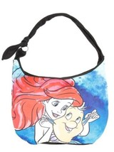 Disney The Little Mermaid Ariel & Flounder Watercolor Hobo Bag Purse - $25.24