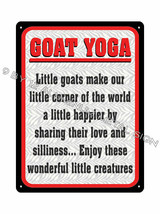 GOAT YOGA work out METAL SIGN funny Awesome Gift yoga class display deco... - $19.99