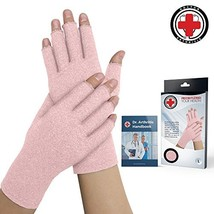 Doctor Developed Pink Ladies Arthritis Compression Gloves and Doctor Wri... - $18.24