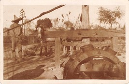 HORSE TURNING WHEELED EQUIPMENT- POSSIBLY MINING RELATED REAL PHOTO POST... - $8.30