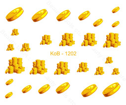 Nail Art Water Transfer Sticker St.Patrick 's Day Gold Coins KoB-1202 - $2.89