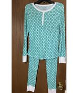 JASMINE n GINGER Women SIZE M Pajama Set White/GREEN 2 Piece RN SLEEPWEAR - $23.28