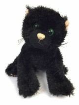 "Webkinz Shiny Black Cat Plush No Code Ganz 8"" Stuffed Animal Lovey HM135 - $9.90"