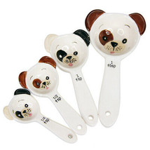 Pacific Giftware Loveable Puppy Dog Ceramic Measuring Spoon Set of 4 Cre... - $10.88
