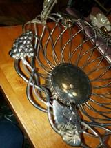 Vintage Godinger Fruit Bread Basket Bowl Silver Art Co. Ltd. with Handle - $44.55