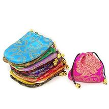 Honbay 16PCS Silk Brocade Drawstring Jewelry Pouches Coin Purses Gift Bags image 4