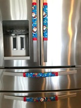 Refrigerator Door Handle Covers Set of 4 Merry Bright Christmas Theme 13... - $25.98
