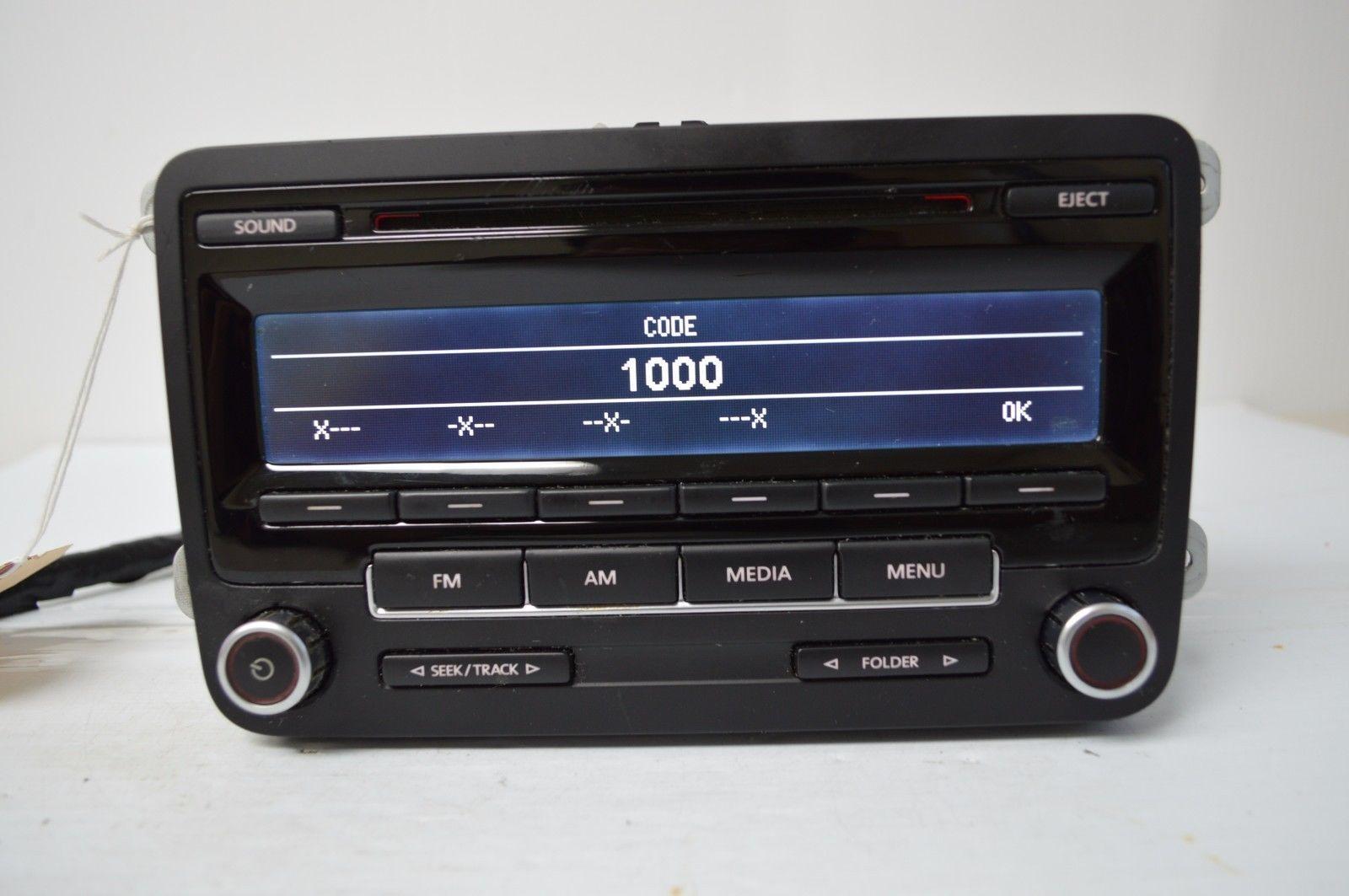 2009 2015 vw volkswagen golf radio cd player 1k0035164d n. Black Bedroom Furniture Sets. Home Design Ideas