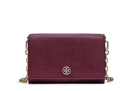 NWT TORY BURCH Robinson Wallet On a Chain WOC Leather Crossbody Bag Shir... - $235.00