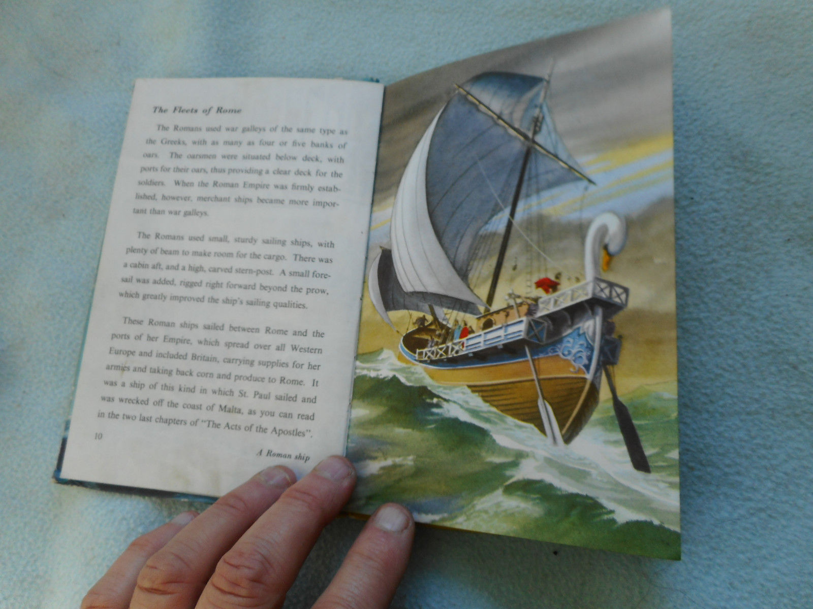 Vintage 1961 Lady Bird Book The Story Of Ships Series 601