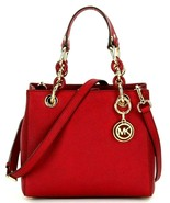 MICHAEL KORS CYNTHIA RED GOLD SAFFIANO LEATHER CROSSBODY SM SATCHEL BAGNWT! - $209.99
