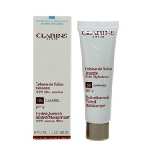 CLARINS HYDRAQUENCH TINTED MOISTURIZER SPF-6 50 ML/1.7 OZ. #6-CARAMEL  - $42.08