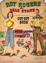 VINTAGE UNCUT 1950 ROY ROGERS & DALE EVANS PAPER DOLLS~#1 REPRODUCTION~O... - $19.99