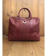Authentic CHRISTIAN DIOR Burgundy Canvas Boston Bag 40 Weekender - $495.00