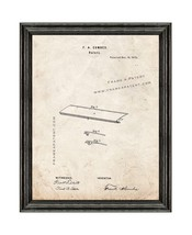 Ruler Patent Print Old Look with Black Wood Frame - $24.95+