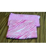 Crochet Dishcloth, Handmade Dishrag, Washcloth, Facecloth, Pink, White, ... - $15.00