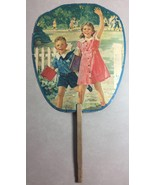 Vintage Advertising HAND FAN White Dove Flour, Midway KY Children~ Our T... - $32.71