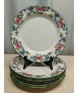 "8 Royal Doulton Fine China FLORADORA GREEN Dinner Plates 10 1/2"" Floral Design - $176.72"