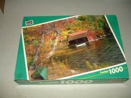 "Little Squam Lake, NH 1000 Piece Prestige Puzzle 19"" x 26 ¾"" RoseArt Br... - $8.86"