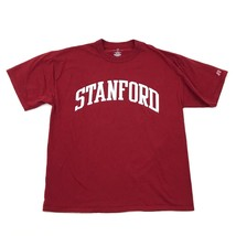 Neuf Russell Athletic Stanford T-Shirt Taille Adulte Large Rouge Manche ... - $18.95