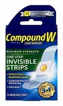 Compound W One Step Pads | Salicylic Acid Wart Remover | 14 Pads | 2 Pack