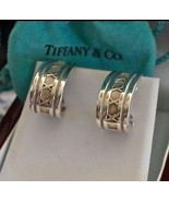 "Tiffany & Co Sterling Silver ""Atlas"" Collection J-Hook Earrings Signed - $380.00"
