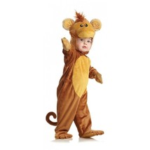 Underwraps Scimmia Tuta Animale Pelo Felpa Bambini Costume Halloween 26051 - $33.58