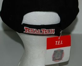 TEI Black Texas Tech Adjustable Cap Masked  Rider TT Colors image 4