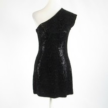 Black gray snake HALSTON HERITAGE sequin sleeveless sheath dress 8 - $39.99