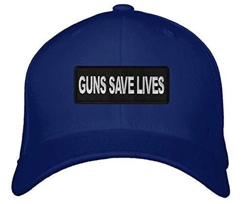 Guns Save Lives Hat Adjustable Cap (Blue)