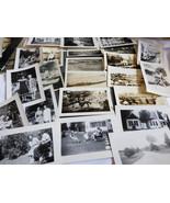 VTG 23 pc Photographs Snapshots old black & white photos Nature people T... - $16.63