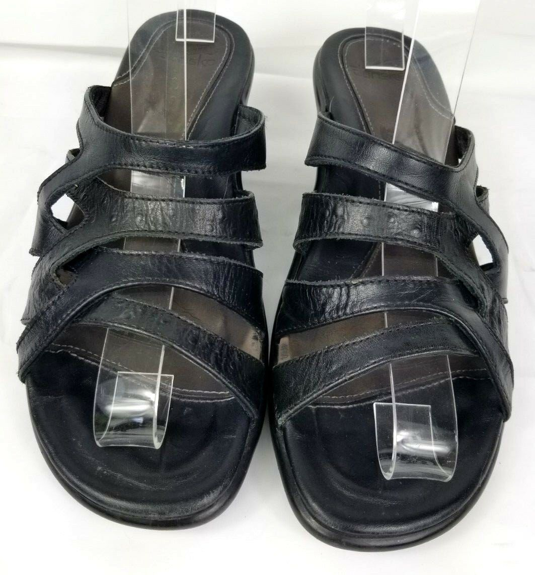 a83f9651e92 Dansko strappy black leather heeled sandals and 50 similar items. S l1600